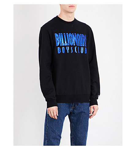 BILLIONAIRE BOYS CLUB Glitter logo cotton sweatshirt (Black