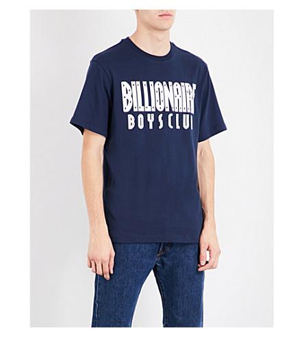 BILLIONAIRE BOYS CLUB Glitter logo cotton-jersey T-shirt (Navy