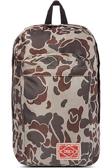 OBEY Camoflage commuter backpack