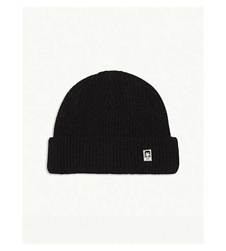 OBEY Knitted trawler beanie (Black
