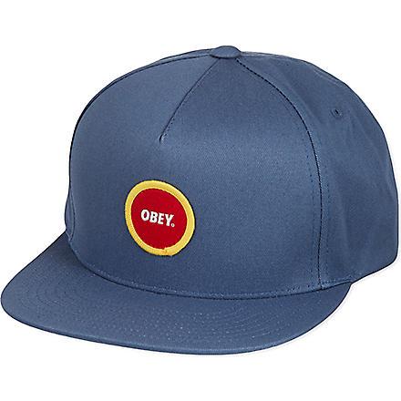 OBEY Circle patch snapback cap (Blue