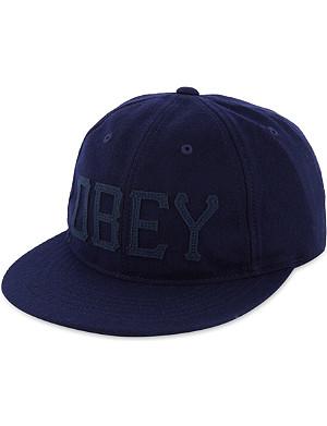 OBEY Hank flat peak cap