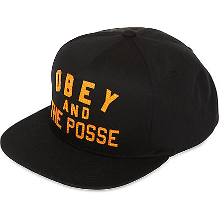 OBEY And The Posse snapback cap (Black