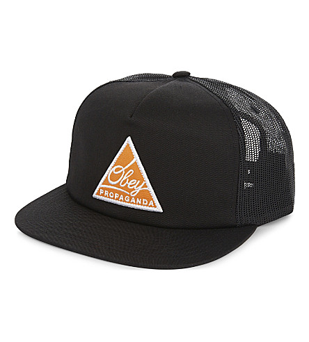 OBEY New Federation cotton-blend trucker cap (Black
