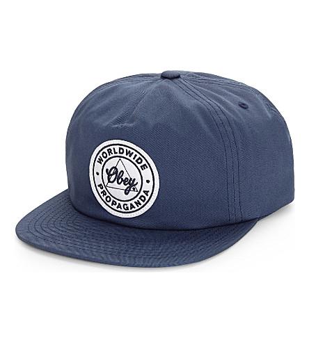 OBEY Propaganda snapback cap (Navy