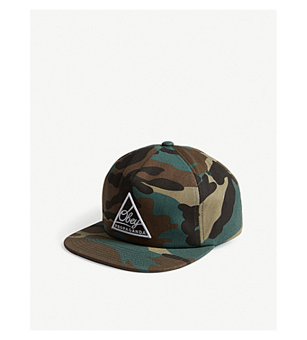 OBEY Logo camouflage snapback cap (Camo