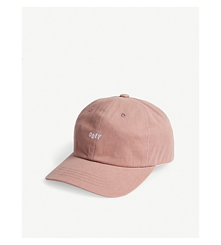 OBEY Jumble Bar III 6 baseball cap (Rose