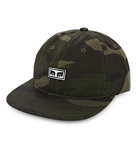 OBEY Overthrow cotton snapback cap (Camo