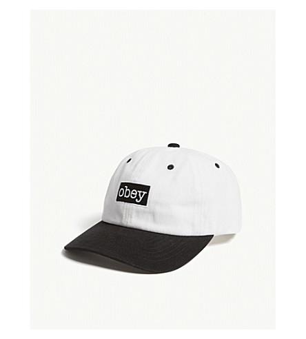 OBEY Brooks logo cotton snapback cap (Off+white