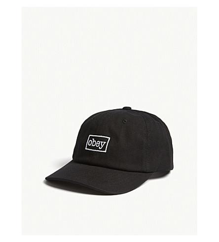 OBEY Logo cotton snapback cap (Black