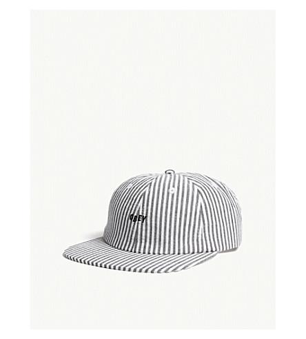 OBEY Cypress striped cotton snapback cap (Black
