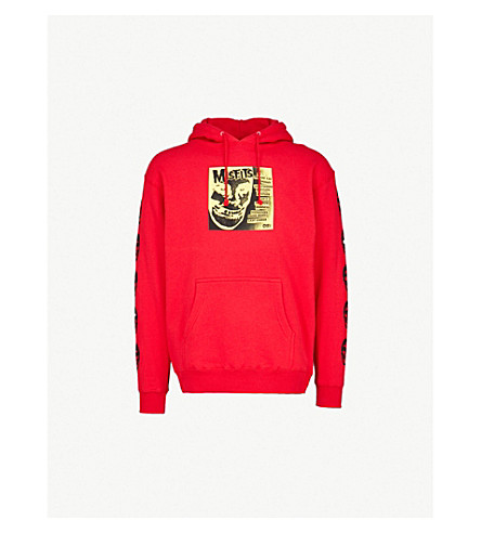 OBEY OBEY x Misfits Cover cotton-blend hoody (Red