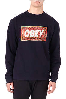 OBEY Magic carpet cotton sweatshirt