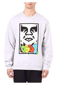 OBEY Obey takeover face sweater