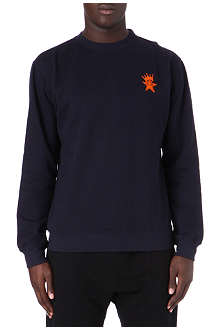 OBEY Crown star cotton sweater