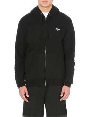 OBEY Shackled rose zip-up hoody