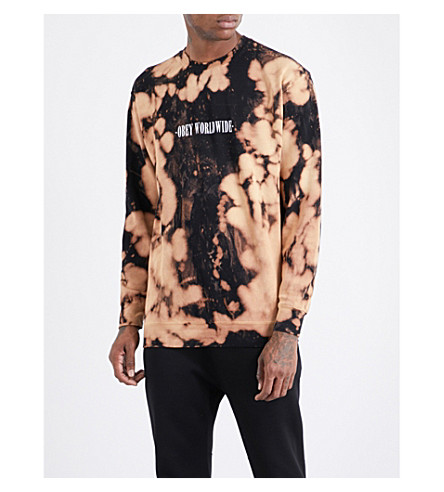 OBEY Bleach spill cotton-jersey sweatshirt (Bleach+spill