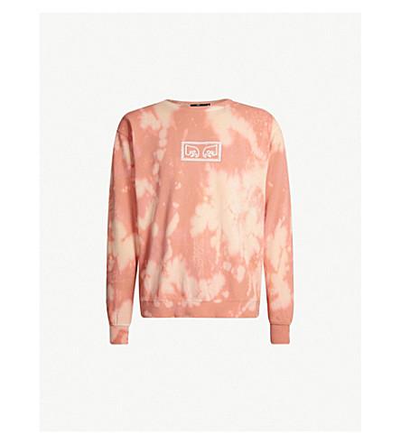 OBEY Jumbled Eyes tie-dye cotton-jersey sweatshirt (Rose