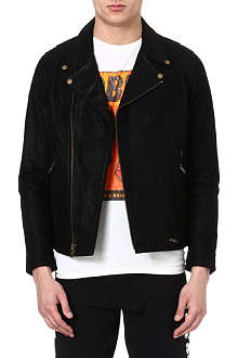 OBEY Slim moto leather jacket