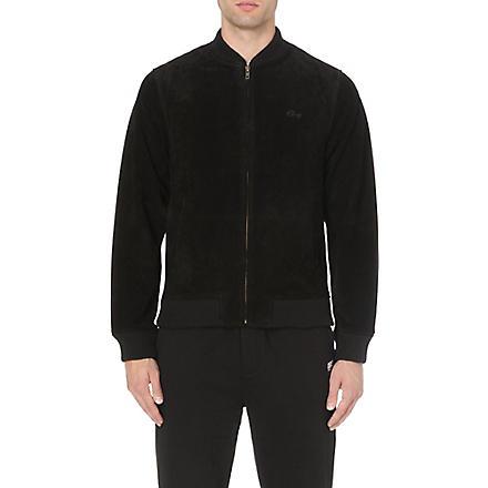 OBEY Downtown suede jacket (Black