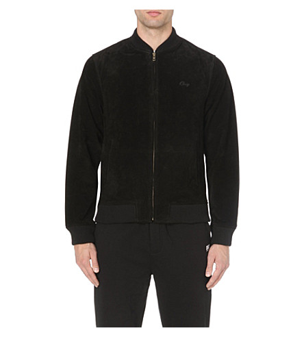 OBEY Downtown suede jacket (Black