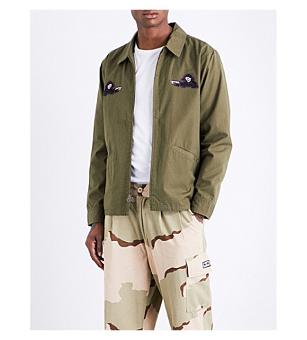 OBEY Reaper-motif cotton jacket (Army