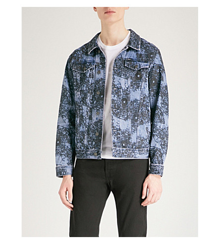 OBEY Shattered patterned denim jacket (Black+multi