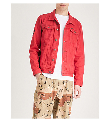 OBEY OBEY x Misfits Teenagers From Mars denim jacket (Red