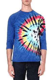 OBEY Tie-dye cotton t-shirt