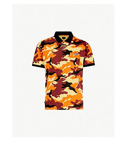 OBEY All Eyez cotton-jersey polo shirt (Field orange camo