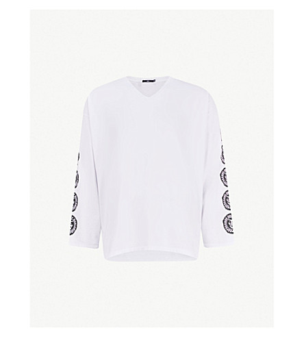 OBEY Ninety One cotton-jersey top (White
