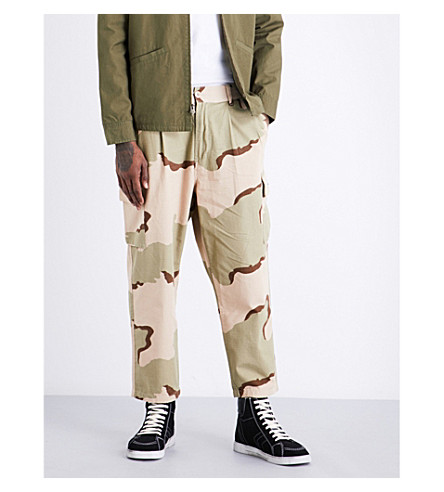 OBEY Fubar big fits relaxed-fit wide cotton trousers (Desert+camo