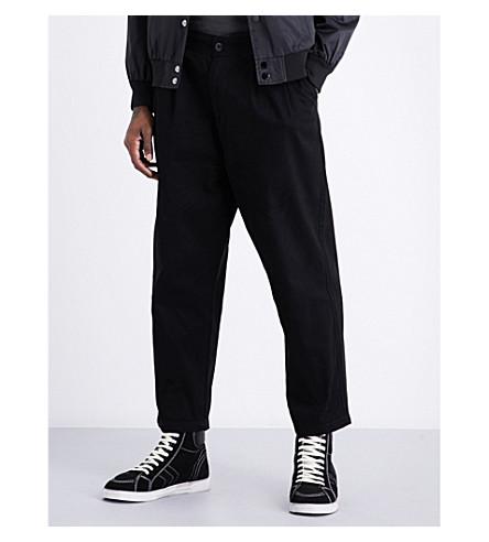OBEY Fubar big fits regular-fit wide cropped jeans (Black
