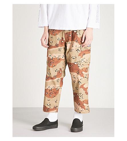 OBEY Fubar camo-print cotton-canvas trousers (Choco chip camo