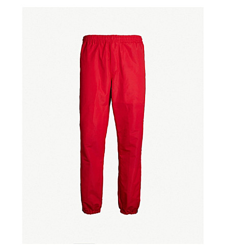 OBEY Eyes shell jogging bottoms (Hot red