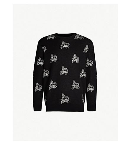 OBEY Scorpion knitted jumper (Black multi