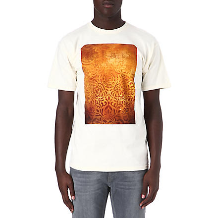 OBEY Floral stencil t-shirt (Natural