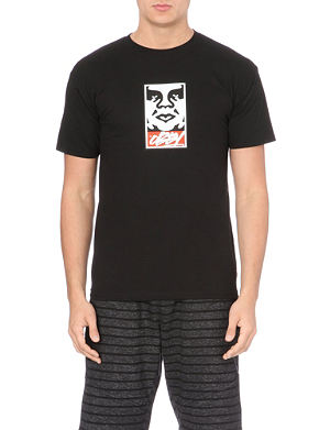OBEY Slick takeover cotton logo t-shirt