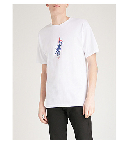 OBEY Printed cotton-jersey T-shirt (White