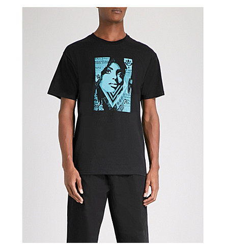 OBEY Bias By Numbers cotton-jersey T-shirt (Black