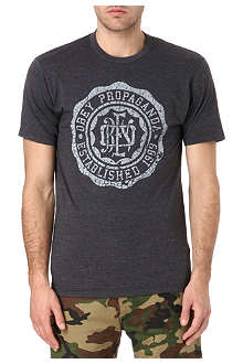 OBEY College crest t-shirt