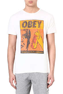OBEY Half-Face Spray t-shirt