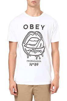 OBEY Wet Lips t-shirt