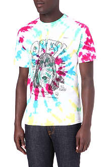 OBEY Face Melters tie-dye t-shirt