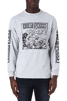 OBEY Posse cartoon long-sleeve t-shirt