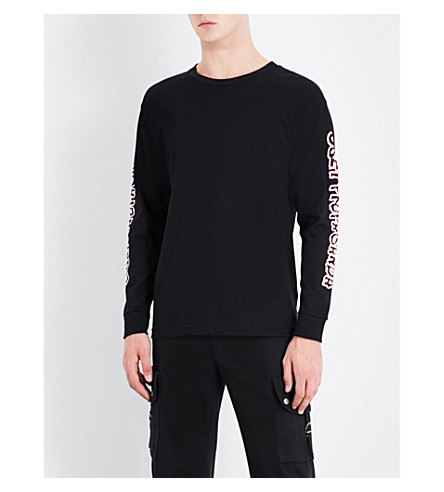 OBEY Public Opinion jersey top (Black