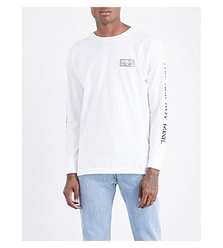 OBEY Text-print cotton-jersey T-shirt (White