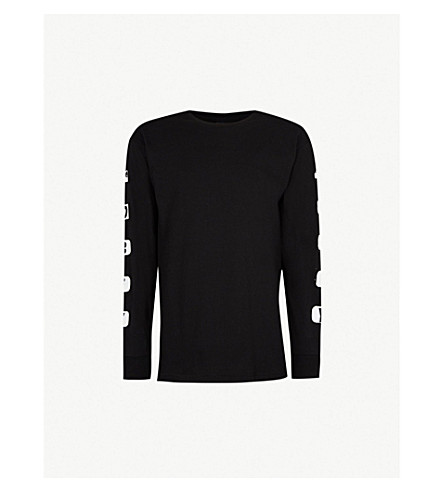 OBEY Scene Missing printed cotton-jersey top (Black