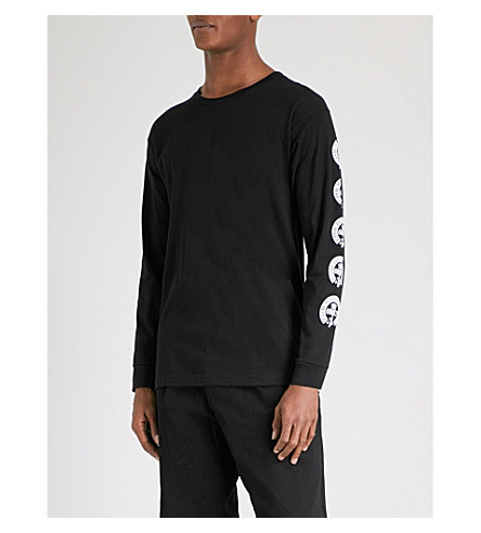 OBEY Civil Disobedience cotton-jersey top (Black