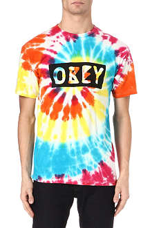 OBEY Rainbow logo t-shirt